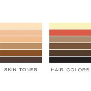 skin tone and hair color chart