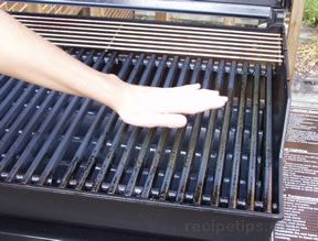 check the temperature of the grill
