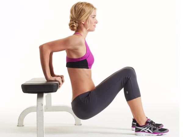 Triceps Dips on the Chair
