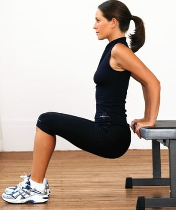 chair dip workouts reduce arm fat