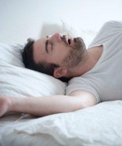 sleep apnea in man