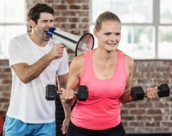 motivate with personal trainer