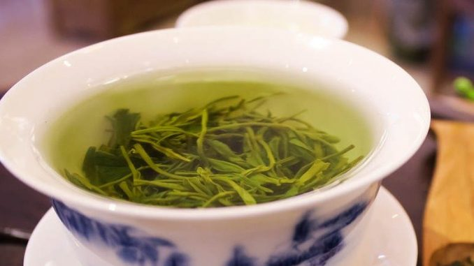 green tea and herbal tea