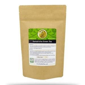 loose leaf kamairicha green tea bag